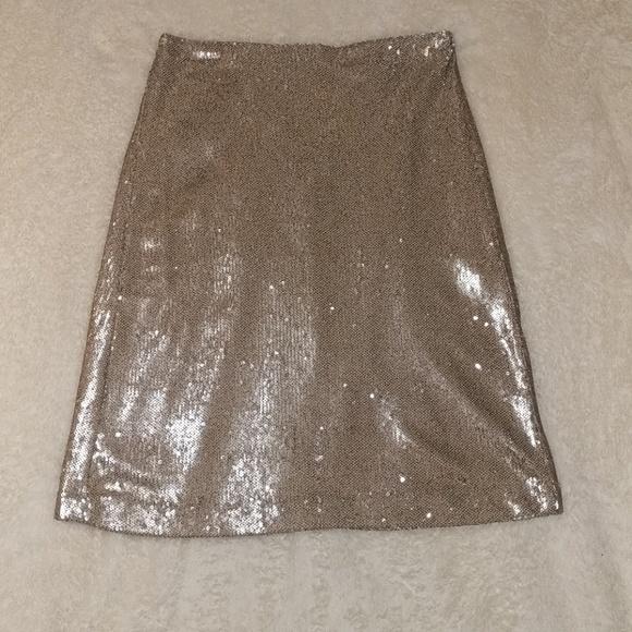 4248e6bfc Zara Skirts   Basic Gold Sequin Skirt Nwot   Poshmark